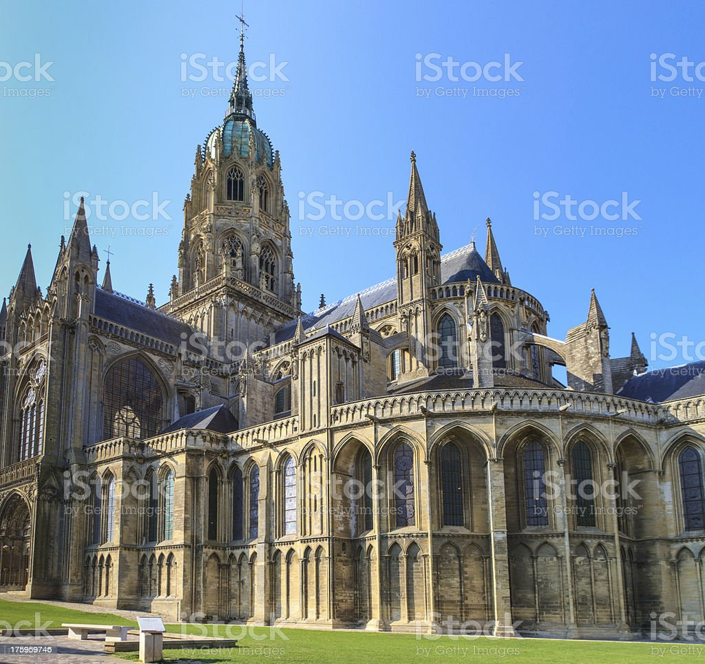 Cathedral of Bayeux, Normandy, France stock photo