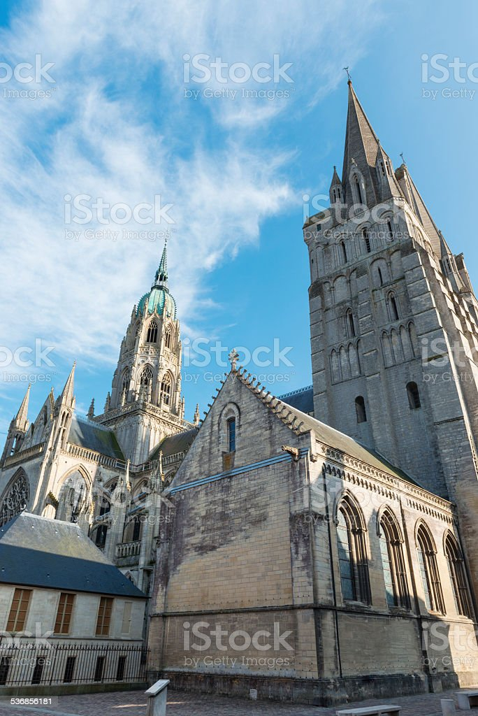 Cathedral of Bayeux stock photo