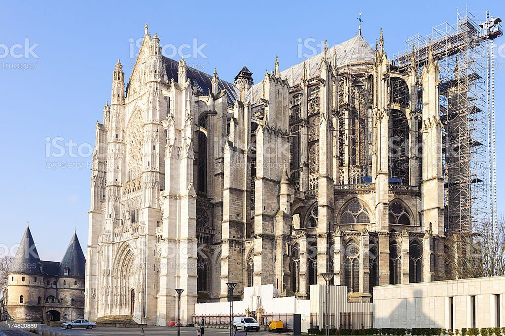 Cathedral of Beauvais stock photo