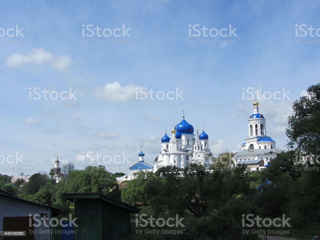 Cathedral of Bogolyubsk Icon of Our Lady, St. Bogolyubsky monastery stock photo