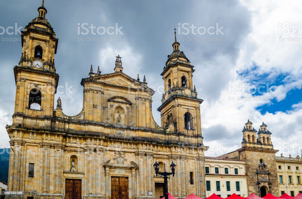 Cathedral of Bogota in Colombia stock photo