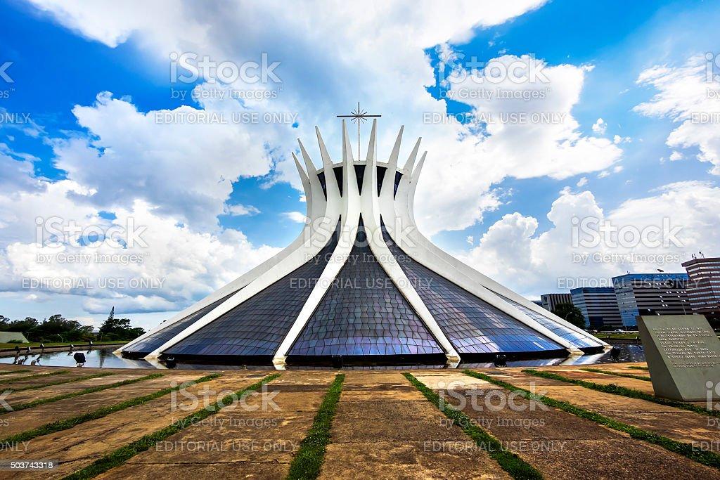 Cathedral of Brasilia, Brazil stock photo