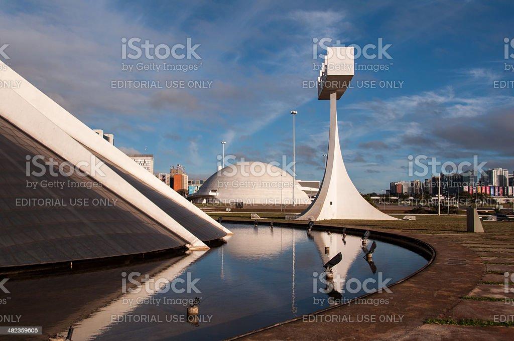 Cathedral of Brasilia stock photo