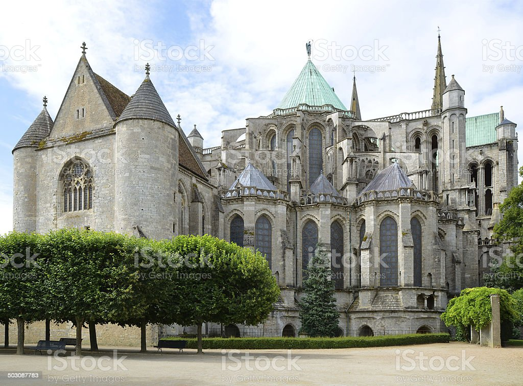 Cathedral of Chartres stock photo