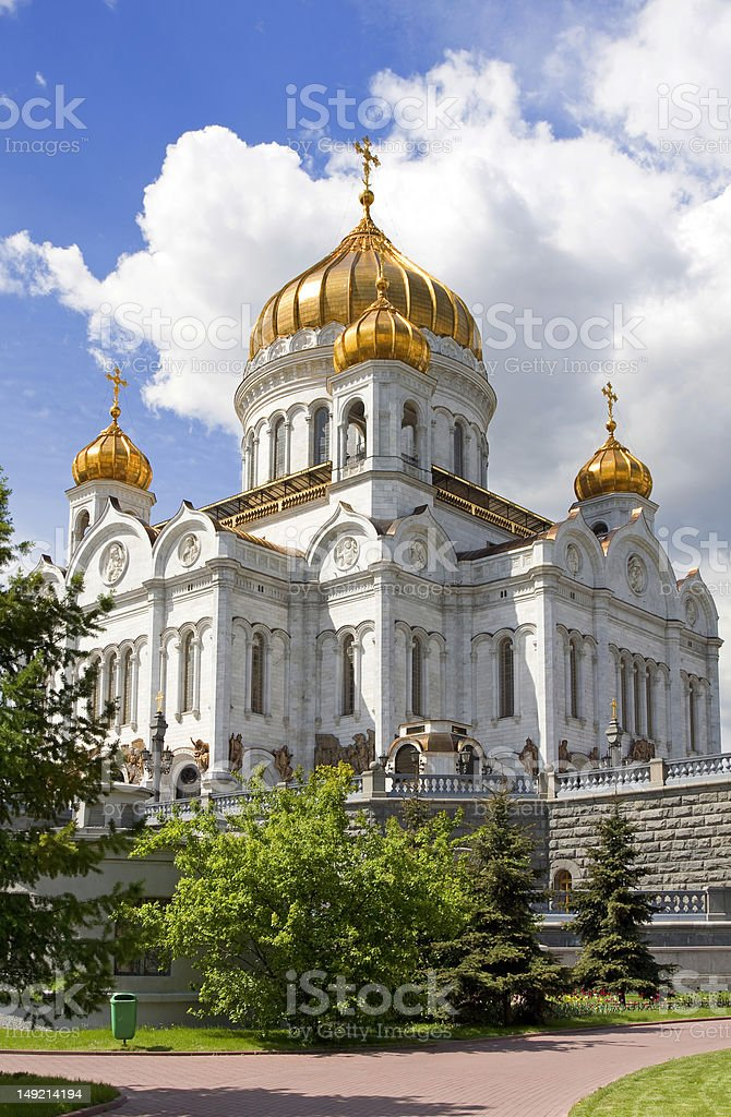 Cathedral of Christ the Savior, Moscow 2009, Russia royalty-free stock photo