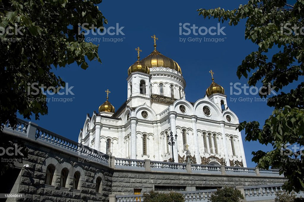 Cathedral of Christ the Saviour. stock photo