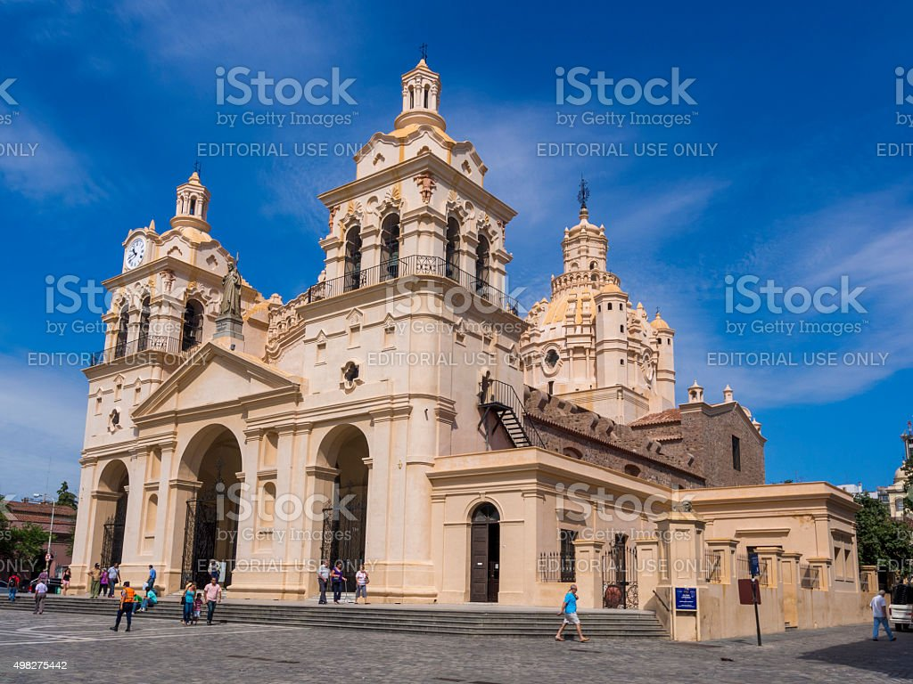 Cathedral of Cordoba in Argentina stock photo