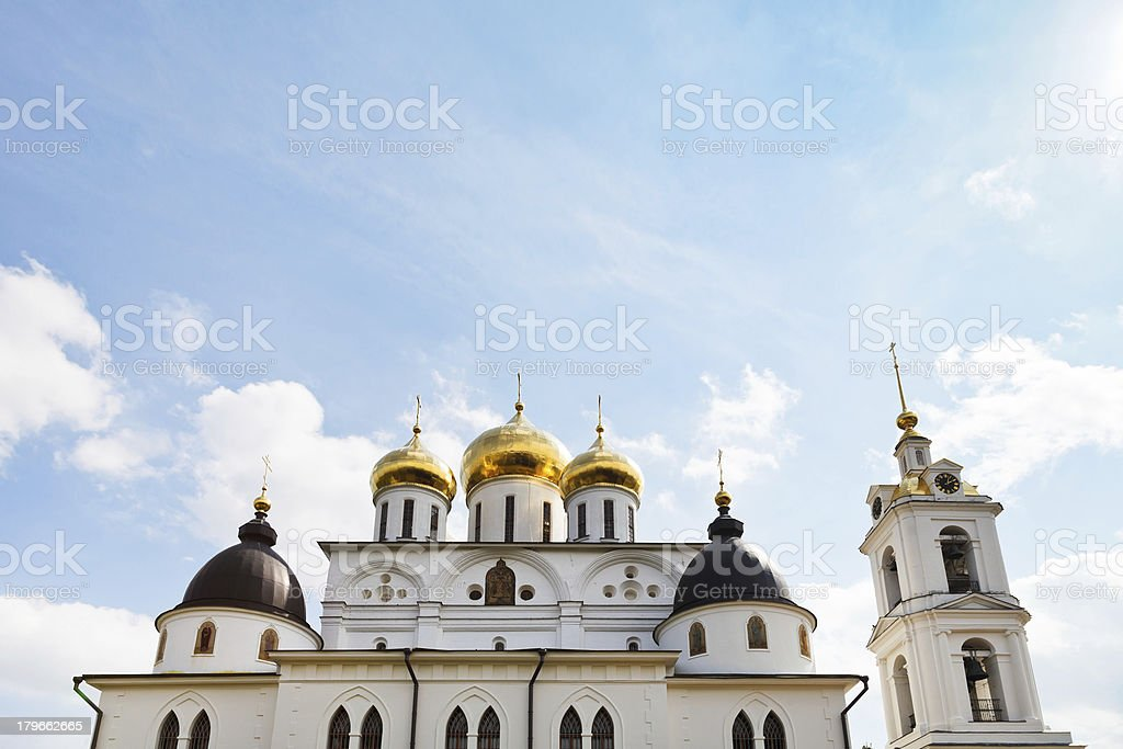 Cathedral of Dmitrov Kremlin, Russia royalty-free stock photo