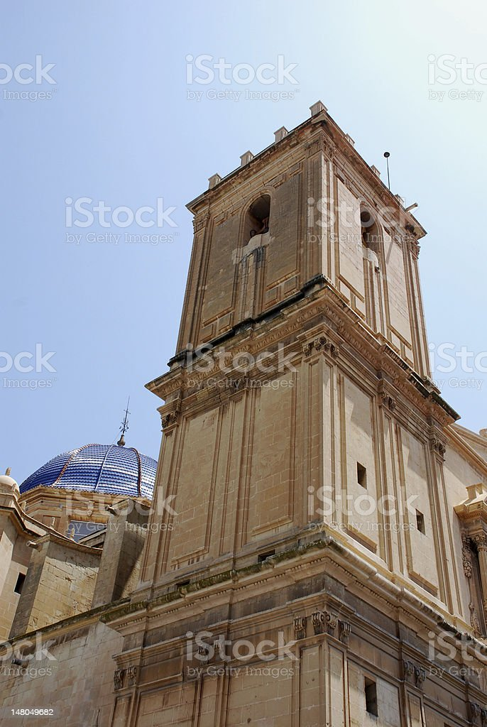 Cathedral of Elche royalty-free stock photo