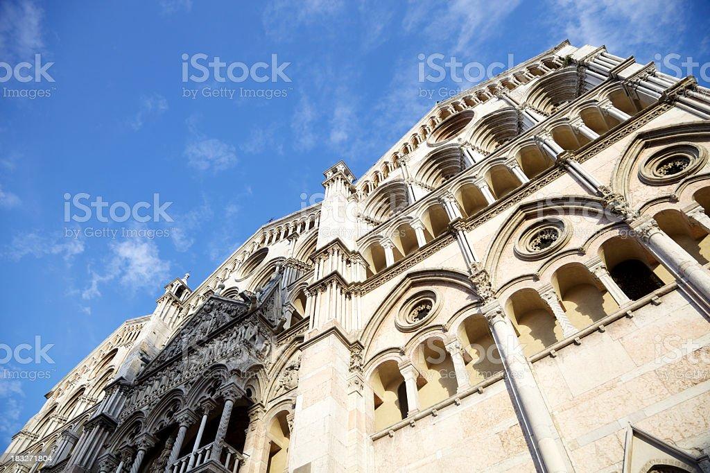 Cathedral of Ferrara, Italy. royalty-free stock photo