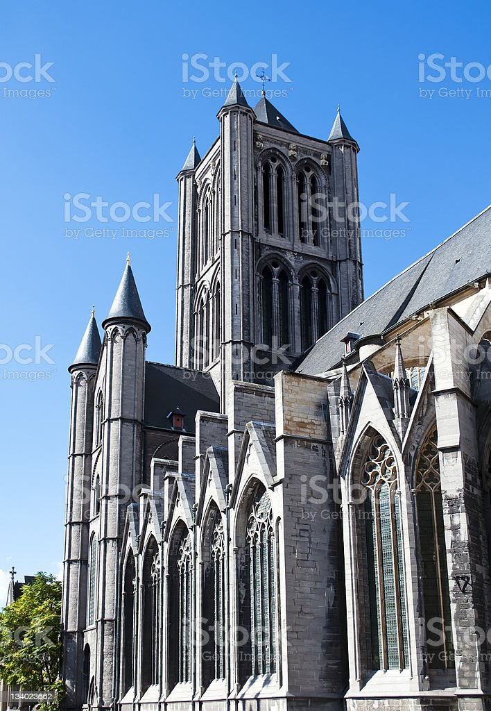 Cathedral of Ghent royalty-free stock photo