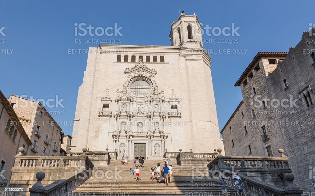 Cathedral of Girona, Spain stock photo