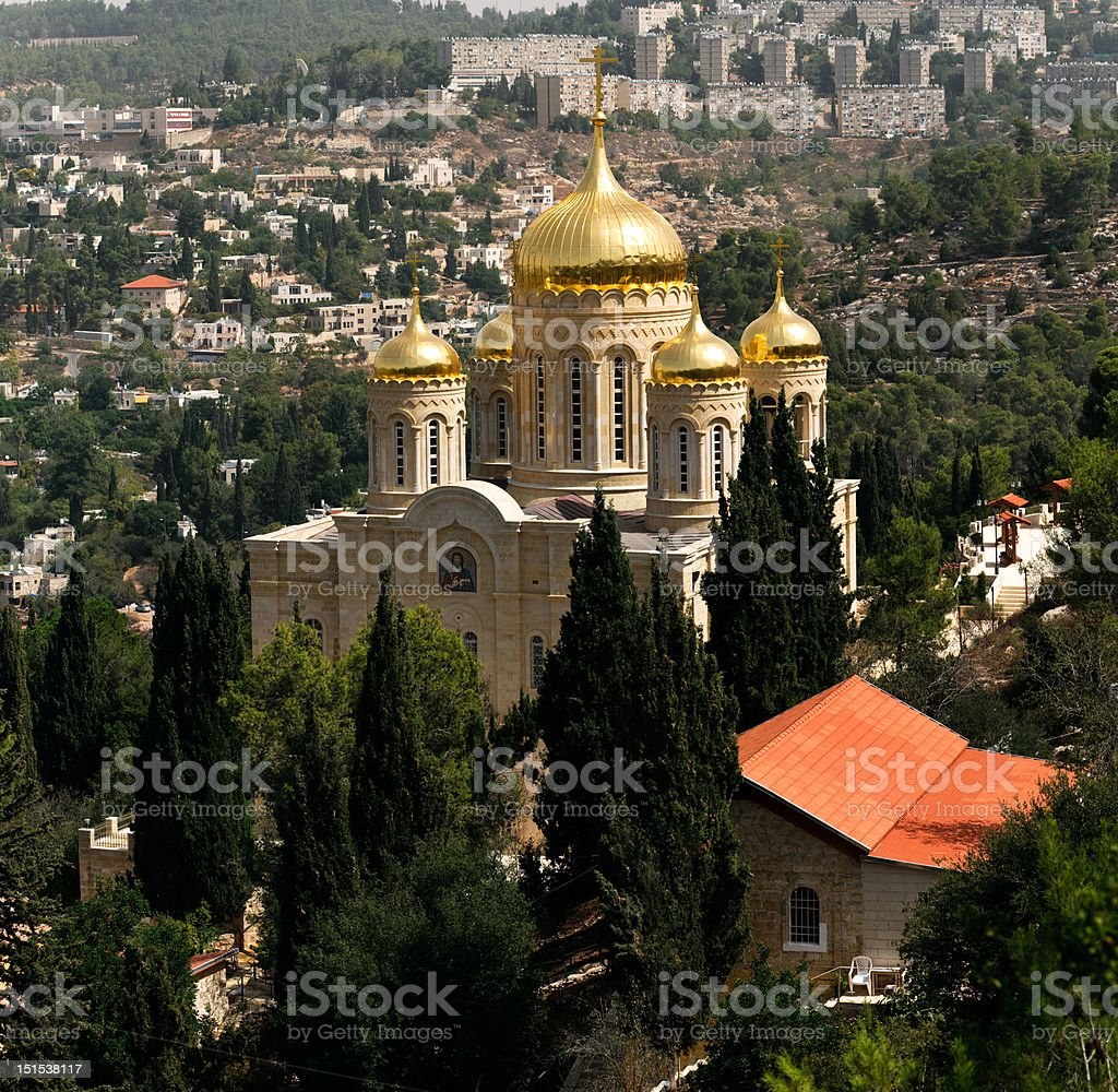 Cathedral Of Gornensky convent , Ein Kerem, Israel stock photo