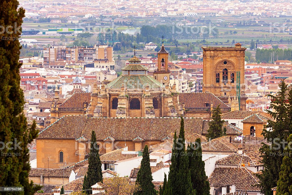 Cathedral of Granada, Spain stock photo