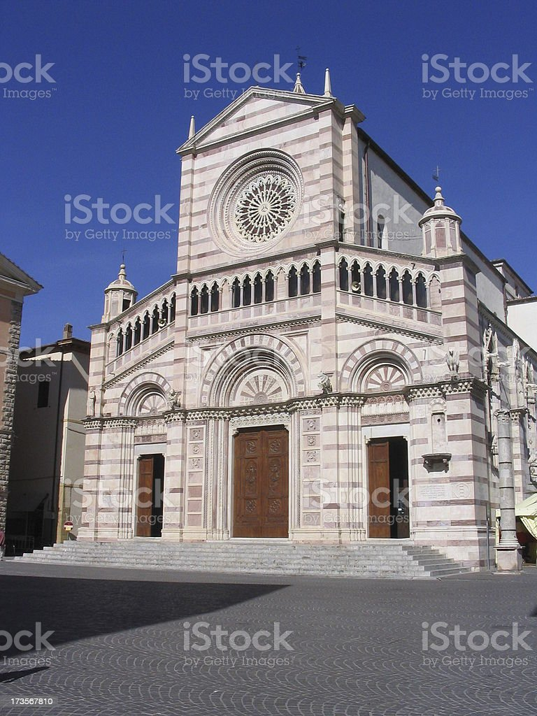 FT - Cathedral of Grosseto - Italy stock photo