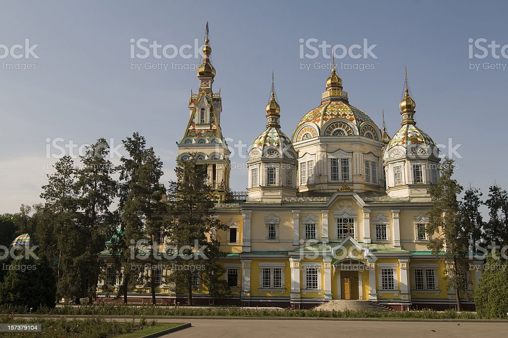 Cathedral of holy ascension, Almaty royalty-free stock photo