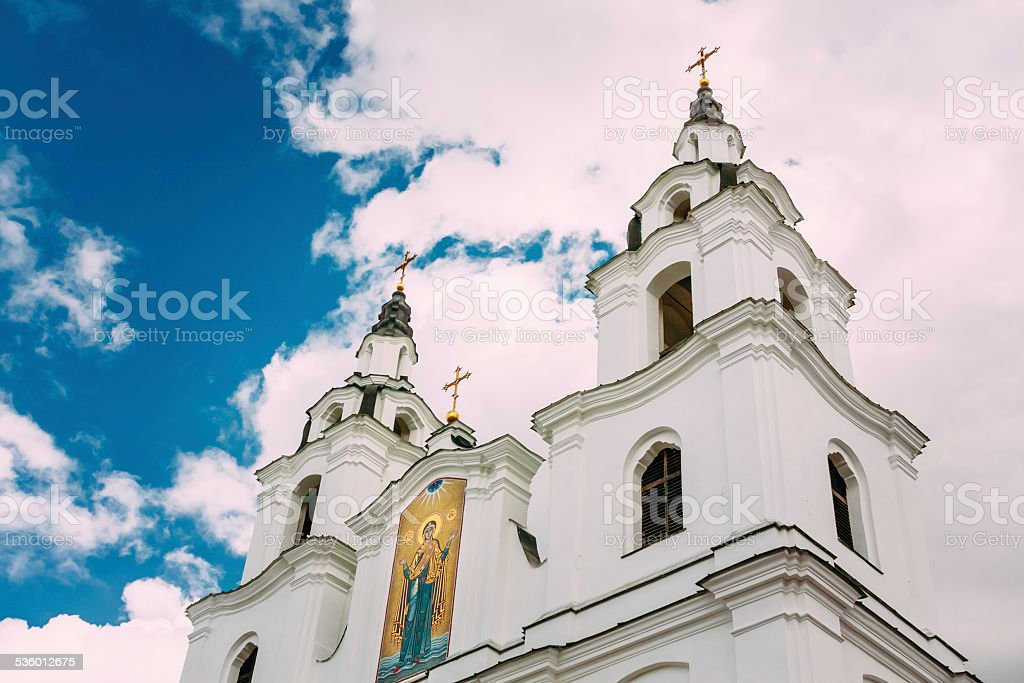 Cathedral of Holy Spirit in Minsk, Belarus stock photo
