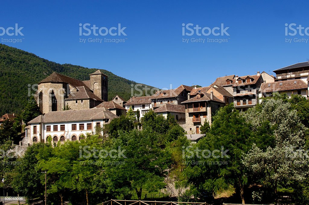Cathedral of  Jaca,Huesca, Aragon, Spain stock photo