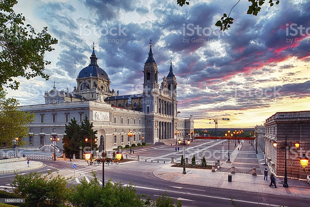 Cathedral of La Almudena (Madrid) stock photo