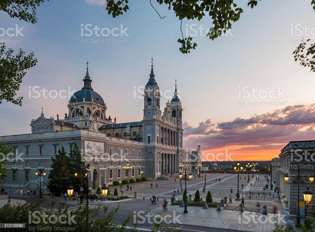 Cathedral of La Almudena (Madrid. Spain) stock photo