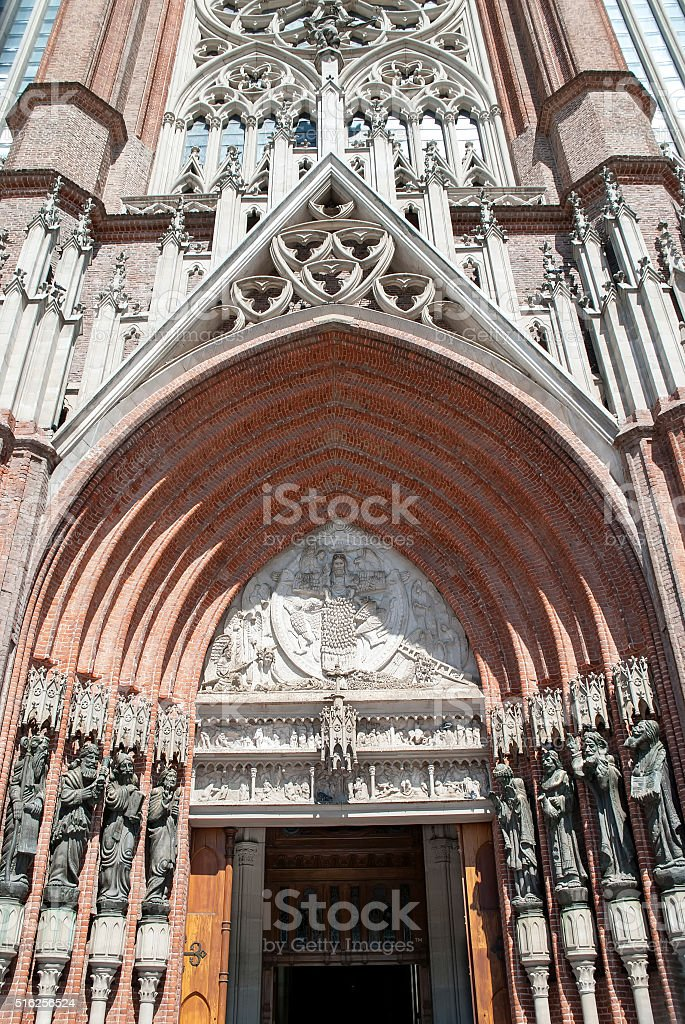 Cathedral of La Plata stock photo