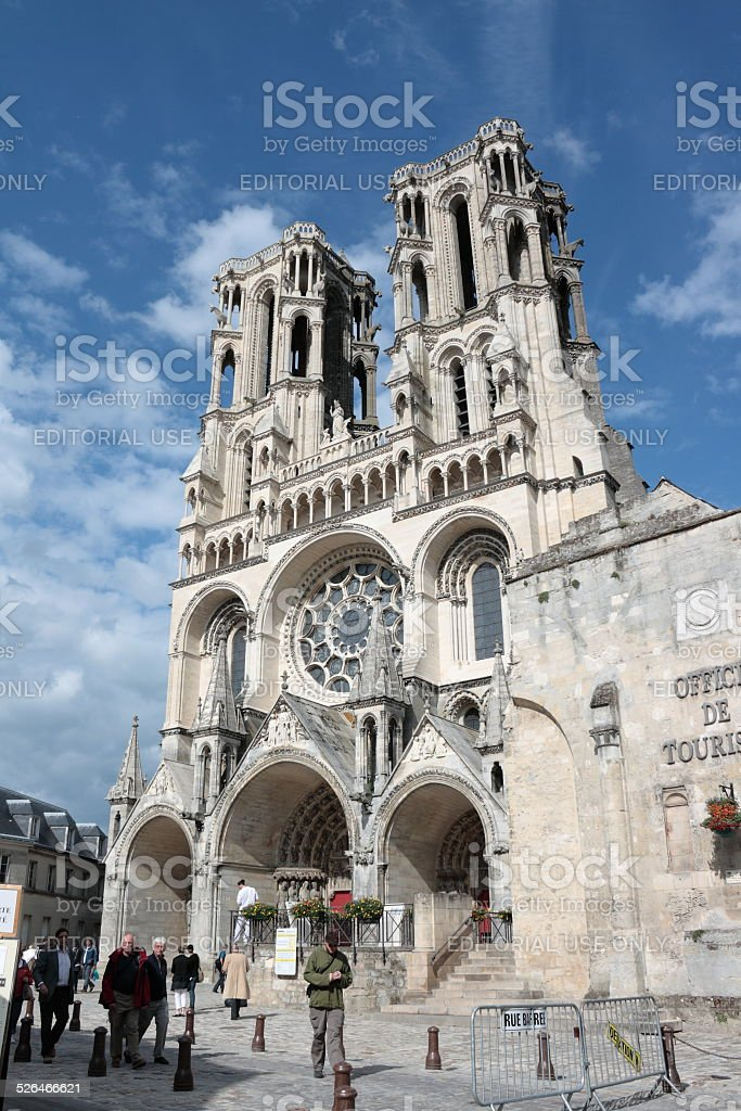 Cathedral of Laon stock photo
