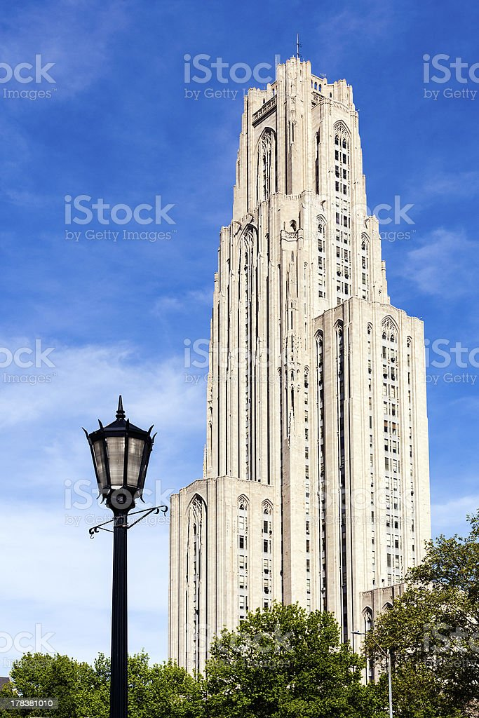 Cathedral of Learning in Pittsburgh stock photo