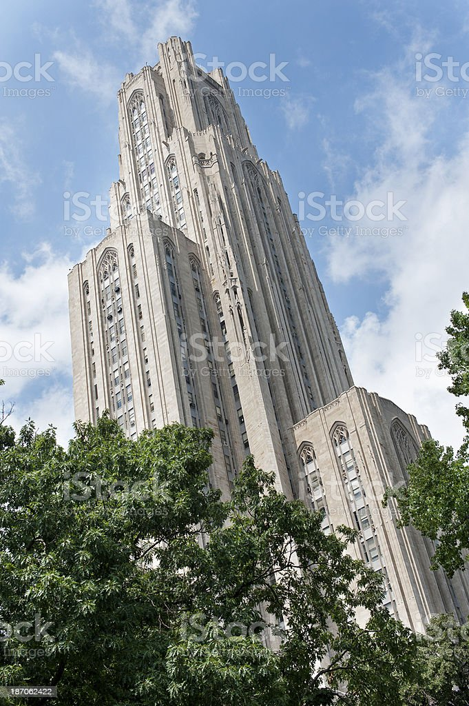 Cathedral of Learning royalty-free stock photo