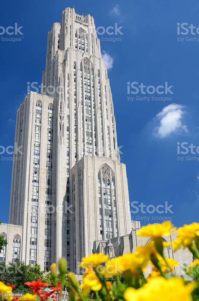 Cathedral of Learning stock photo