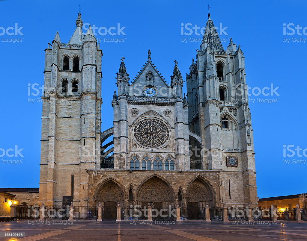Cathedral of Leon (Spain) royalty-free stock photo