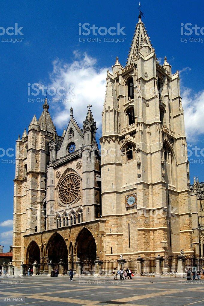 catedral de Leon,Espa?a stock photo