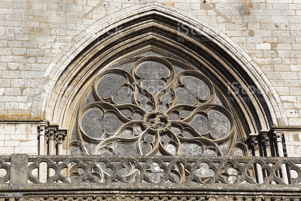 Cathedral of Les Andelys royalty-free stock photo
