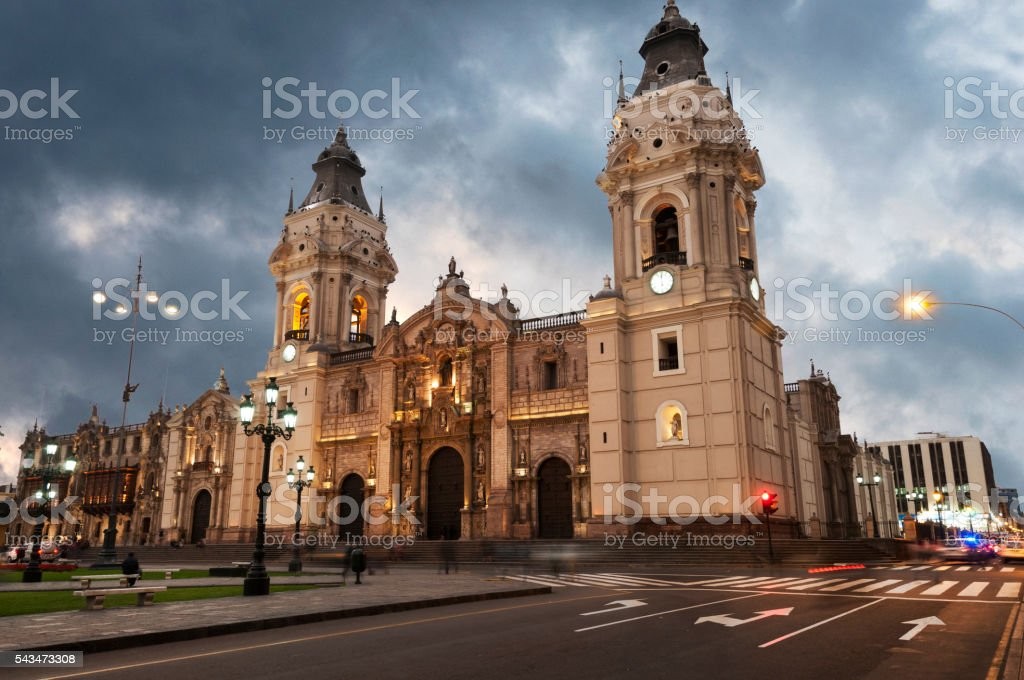Cathedral of Lima stock photo