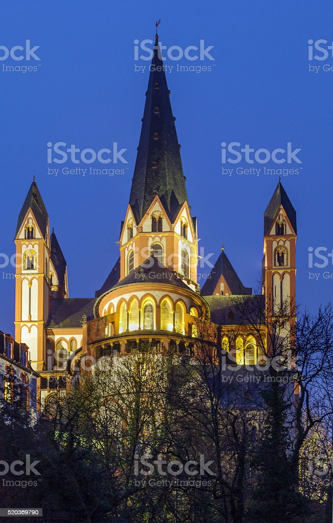 Cathedral of Limburg, Germany stock photo