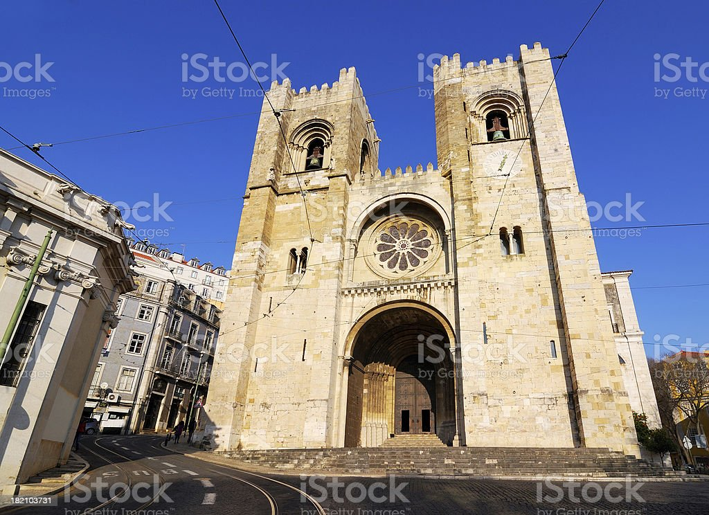 Cathedral of Lisbon, Portugal royalty-free stock photo