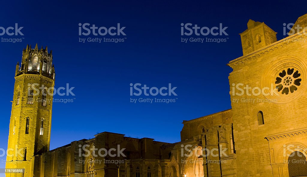 Cathedral of Lleida.Catalonia.Spain royalty-free stock photo