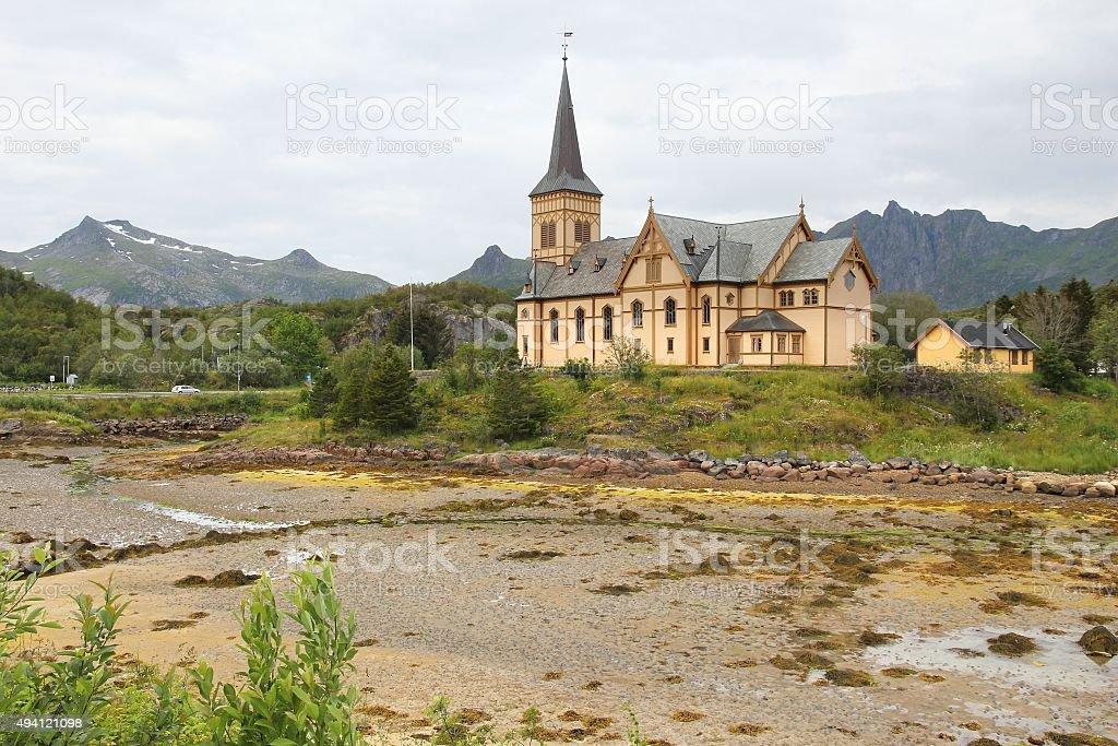 Cathedral of Lofoten stock photo