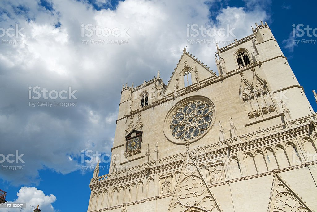 Cathedral of Lyon royalty-free stock photo