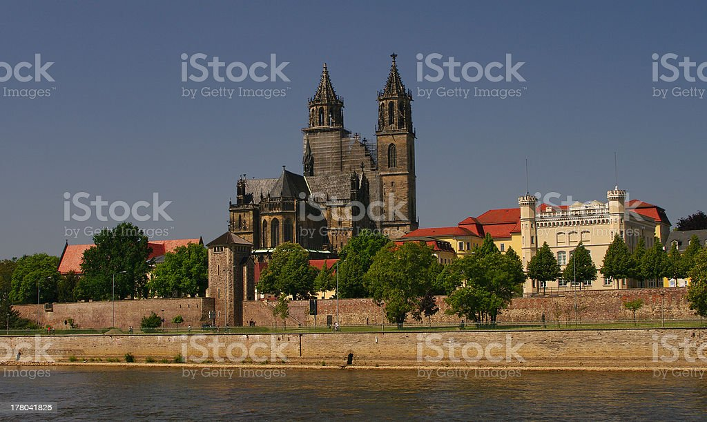 Cathedral of Magdeburg, Germany stock photo