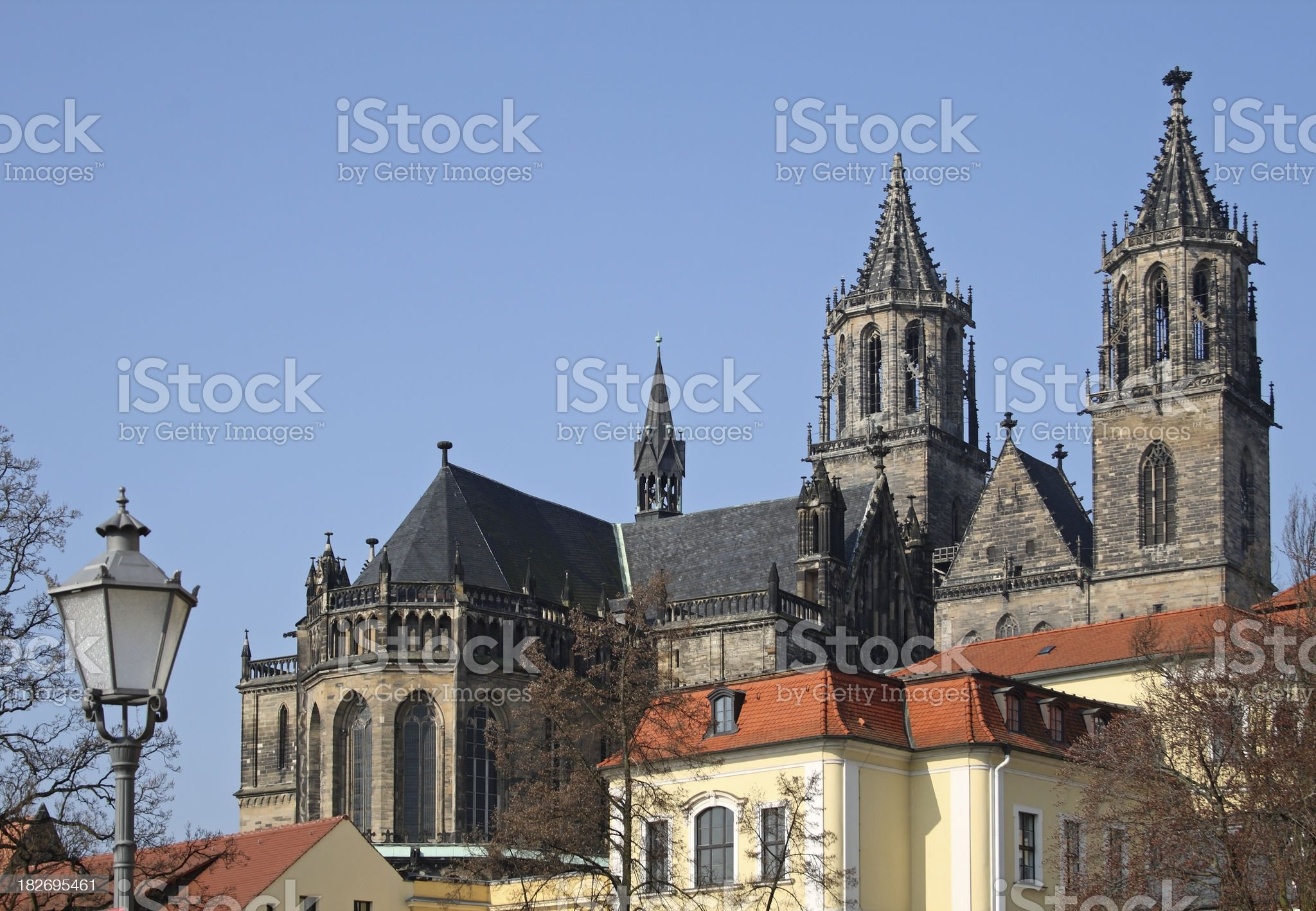 Cathedral of Magdeburg, Germany royalty-free stock photo