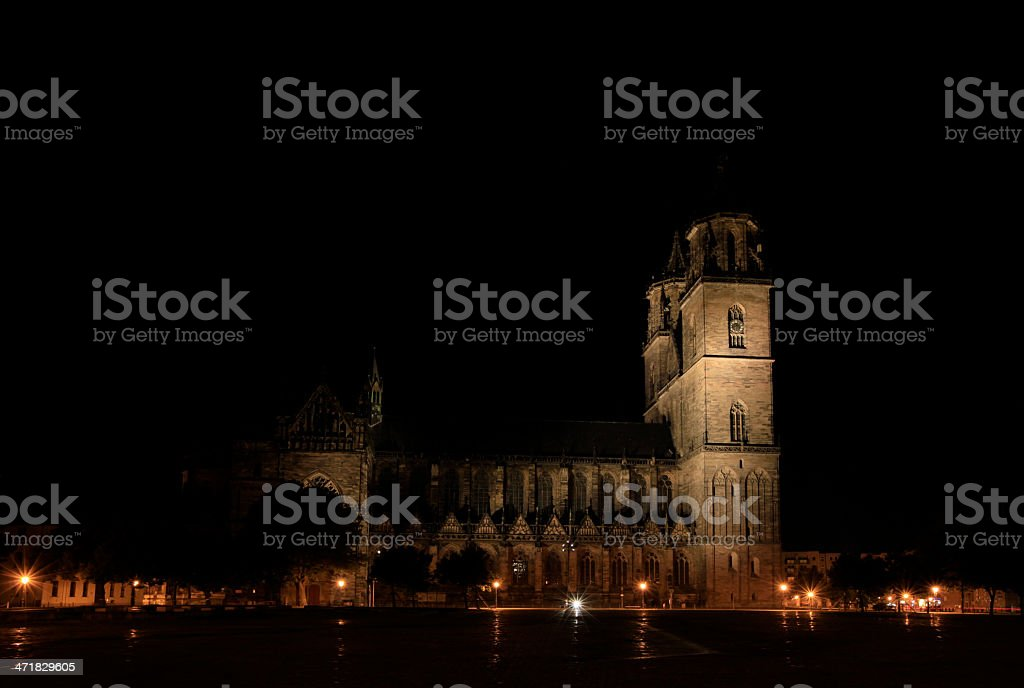 Cathedral of Magdeburg royalty-free stock photo