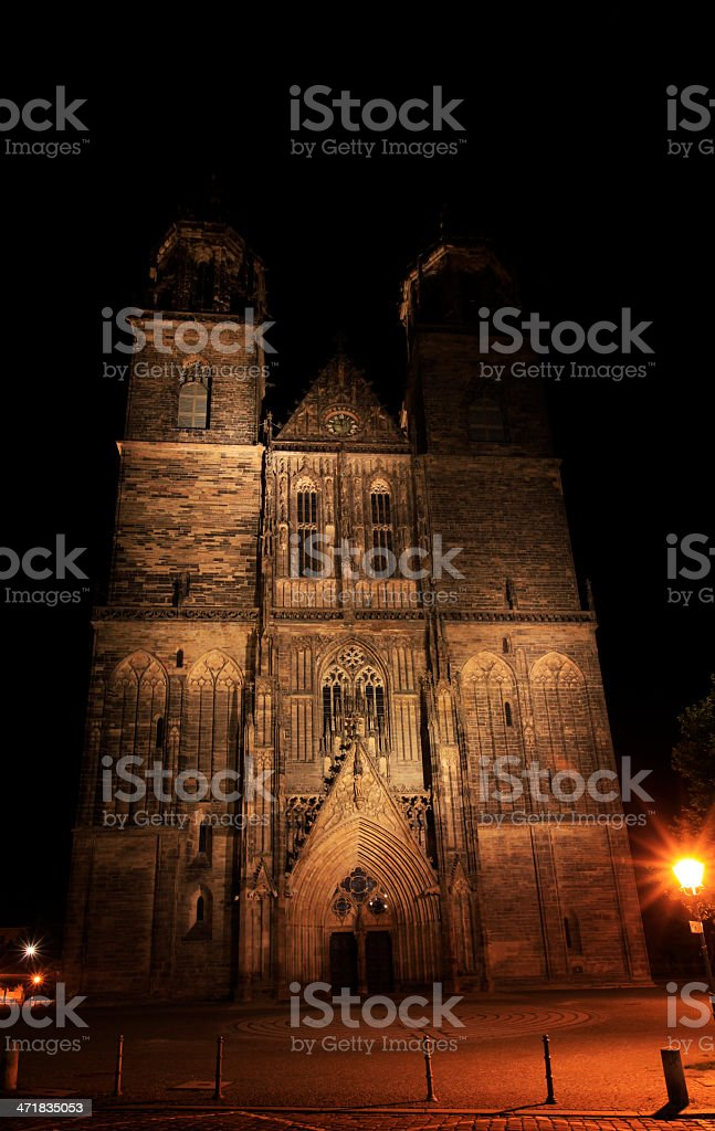 Cathedral of Magdeburg stock photo