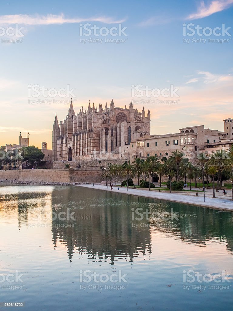 Cathedral of Majorca (Balearic Islands - Spain) stock photo