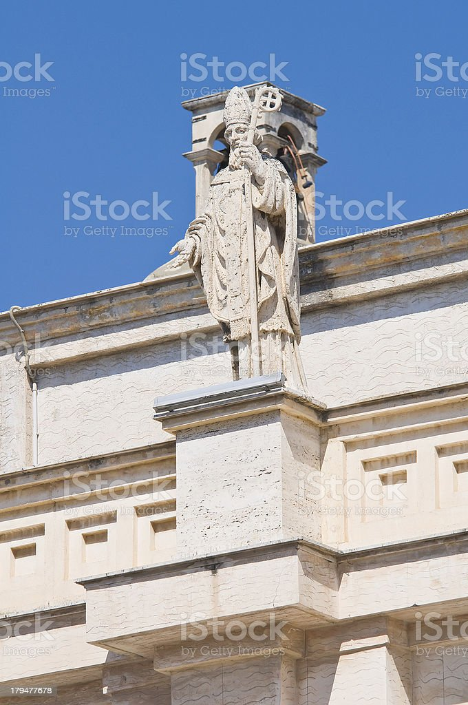 Cathedral of Manfredonia. Puglia. Italy. royalty-free stock photo