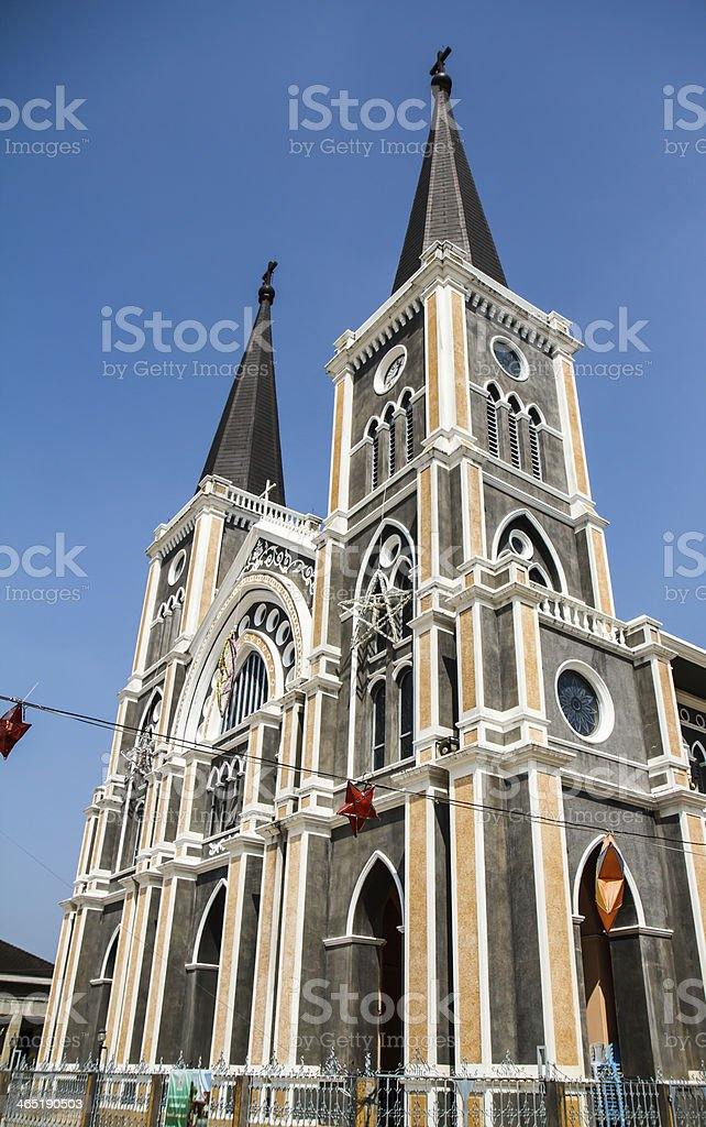 Cathedral of Mary Immaculate Conception, Chanthaburi. royalty-free stock photo