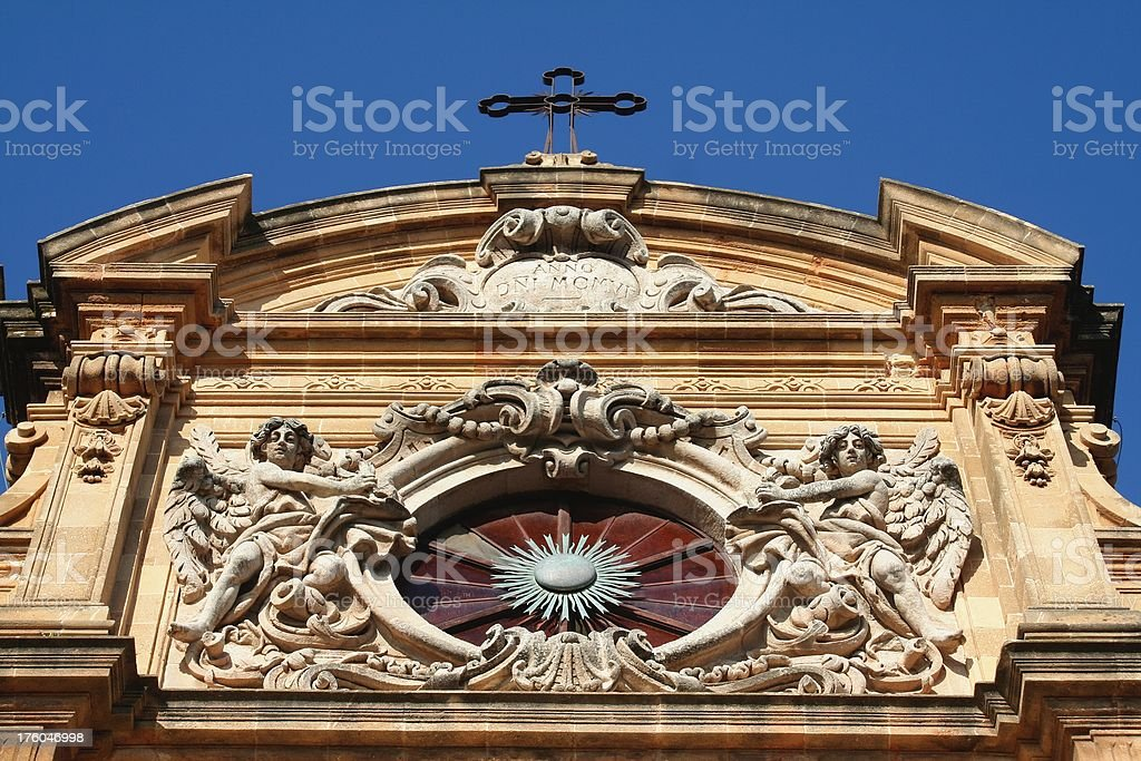 Cathedral of Mazara del Vallo. Detail. stock photo