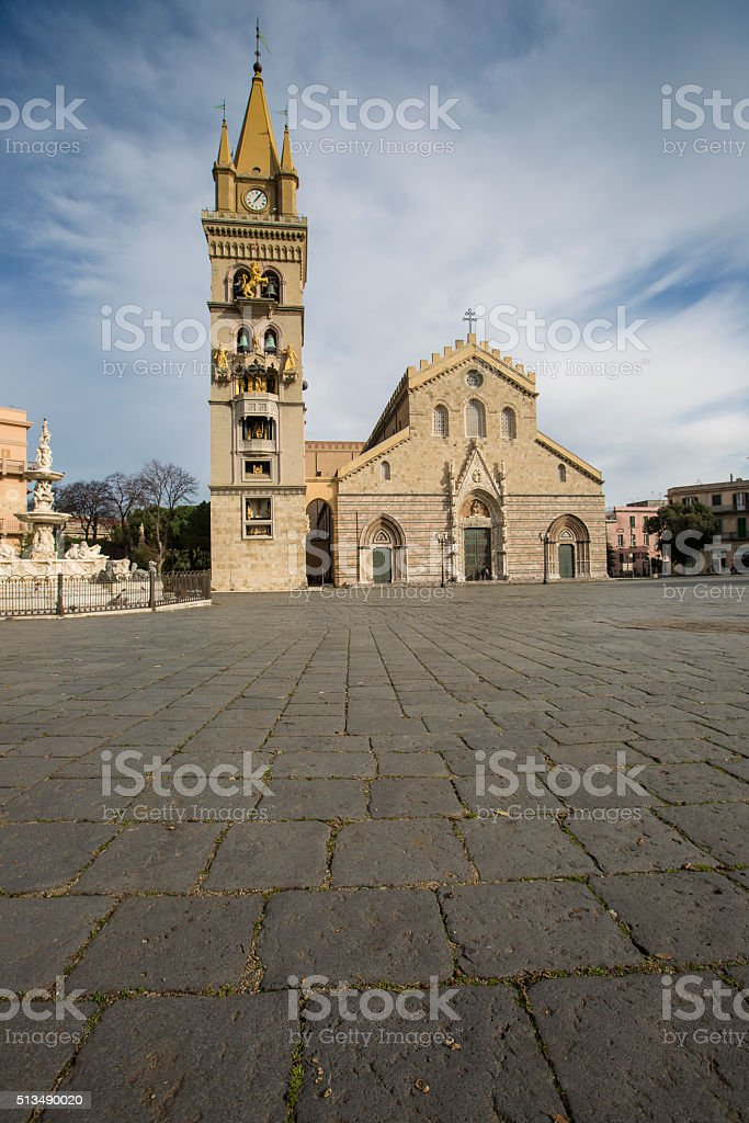 Cathedral of Messina, Sicily, Italy stock photo