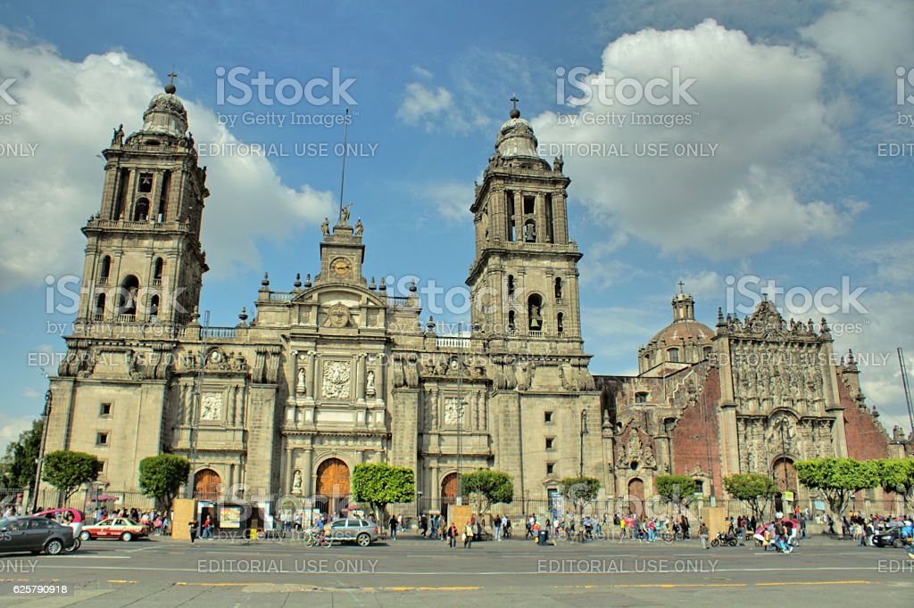 Cathedral of Mexico City stock photo