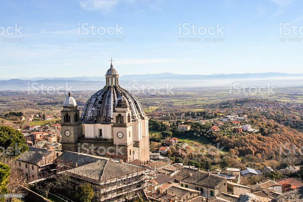 cathedral of montefiascone stock photo