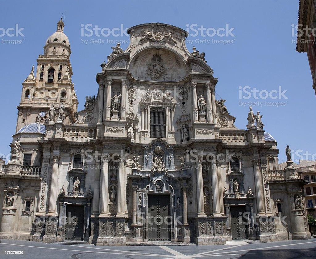 Cathedral of Murcia stock photo